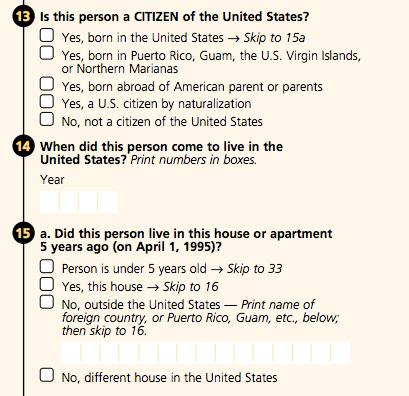 2000 Census form