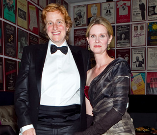 Cynthia nixon marries Christine, who I assume will be her husband. You go, girl!
