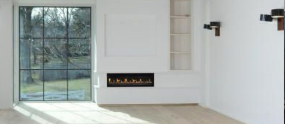 Ironic reference to the traditional fireplace