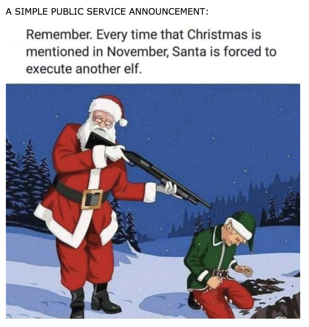 Maybe substitute retailers for poor ol' elves