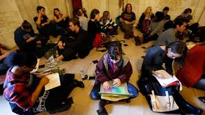 princeton students shelter in safe space