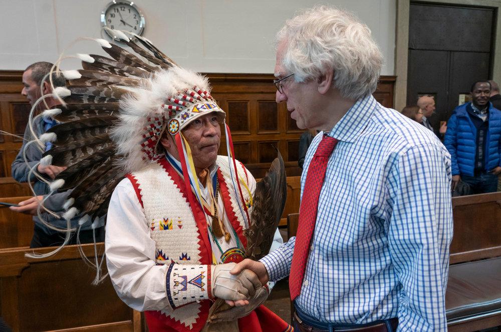 Judge meets chief hoo hah!