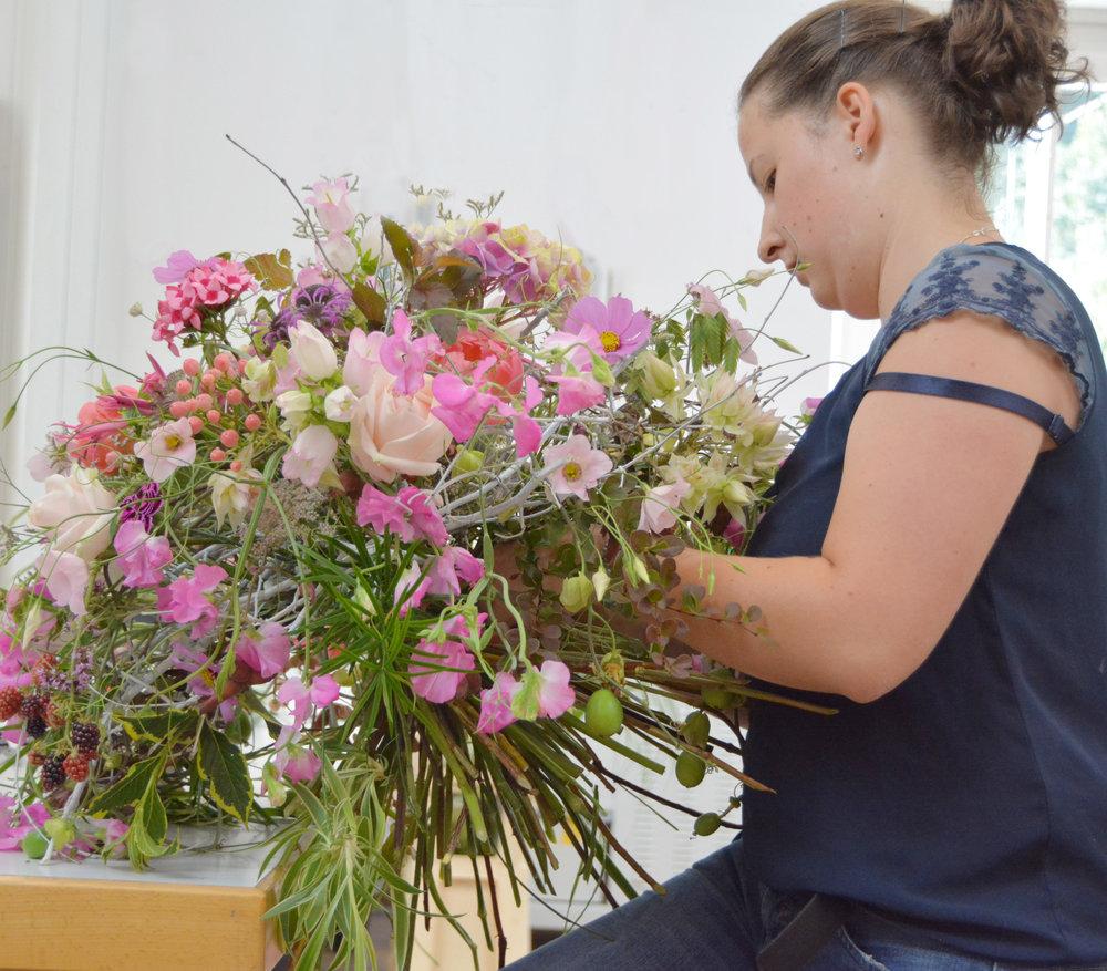 Blütenfülle in schönster Ausprägung - Straussform von Edith Eibenberger.