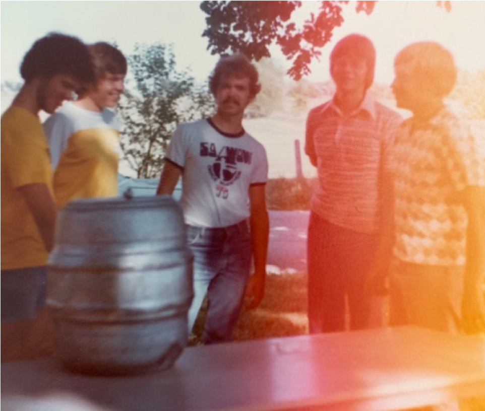 Meeting at the Beverage Table at the last CRB show. Mike, Bill Fish, James, Neil Johnson, and Stuart Peterson