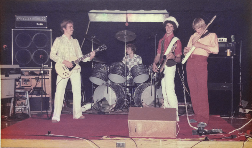 The original Chautauqua Road Band. James, Pat Lewis, Mike, and Gregg
