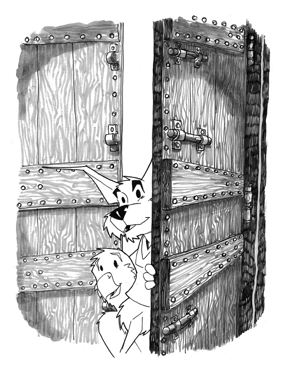 HERO Book Two Pinup DOOR 2