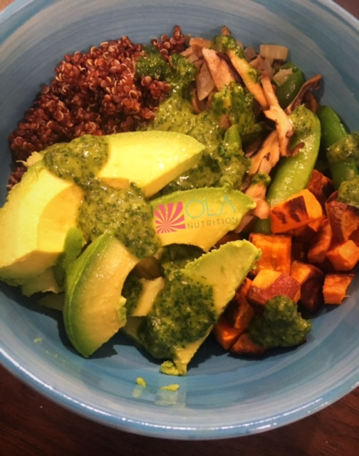Homemade Ancient Grain Bowl Ola Nutrition