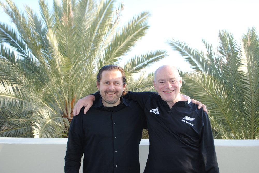 Joe Krebs and Ken Schwaber during a Scrum Power Pack in Miami in 2012.