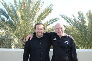 Men in Black: Joe Krebs and Ken Schwaber during a Scrum Power Pack in Miami