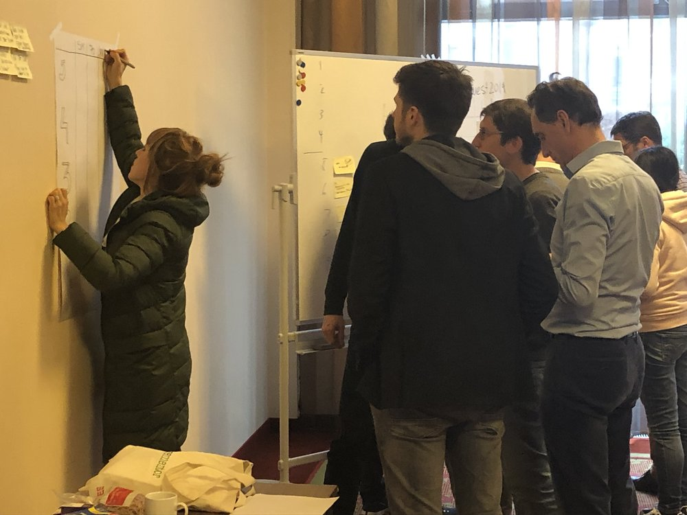 Group Exercise during Agile Leadership Certification Training in Munich Germany 2019