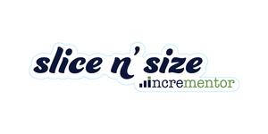Die cut stickers of Slice n' Size