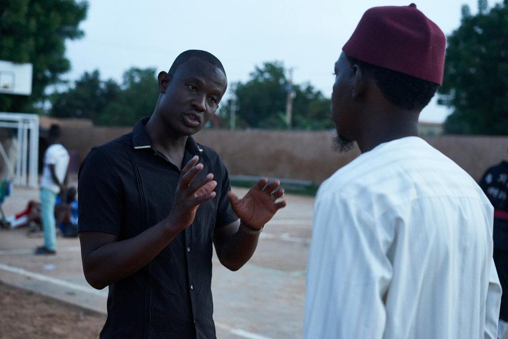 Youth Leader Ibrahim Yayéin the neighborhood of Karadje, Niamey, Niger on September 29,2016