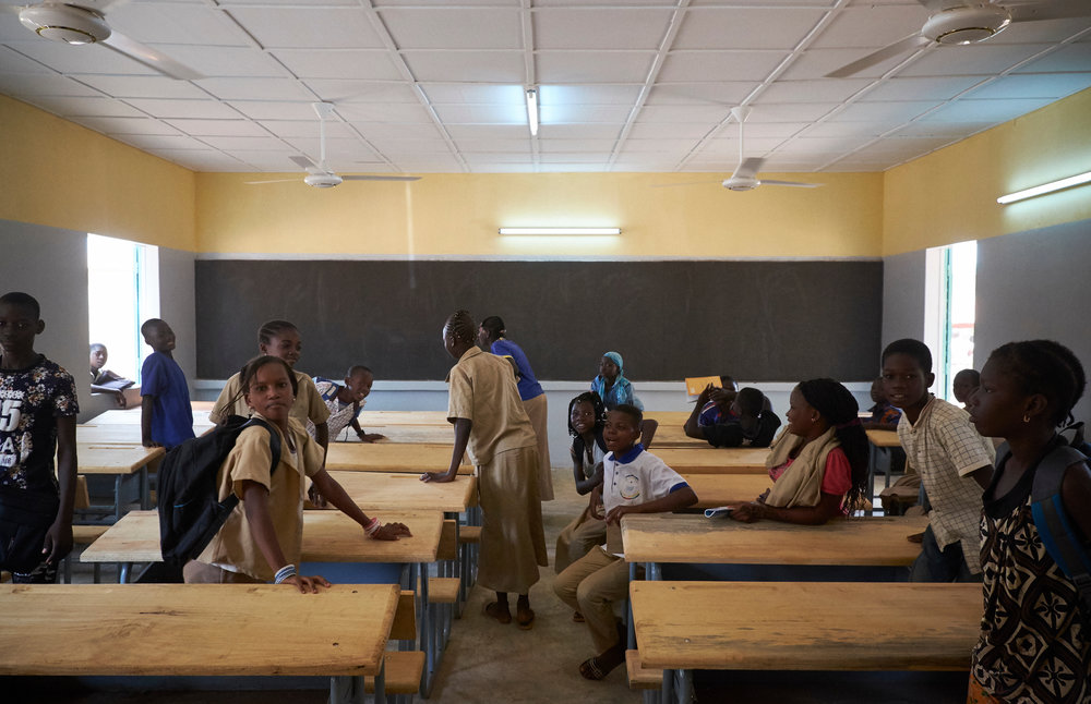 Newly constructed classrooms at the Yadega High School in Ouahigouya, Burkina Faso on October 6, 2016.