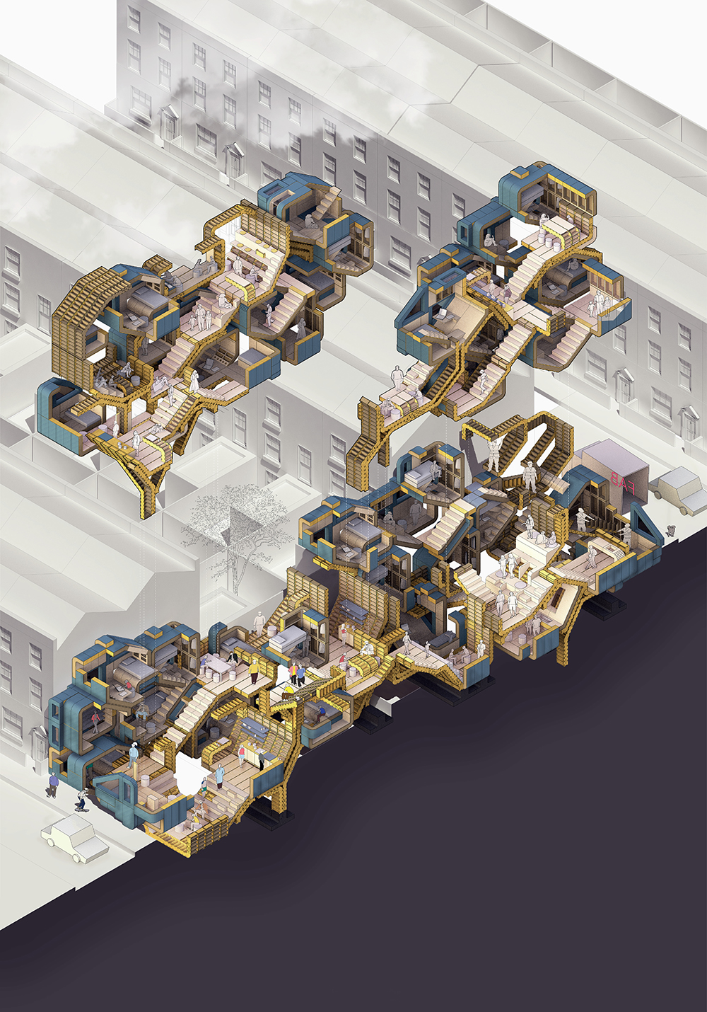 Alessandro Conning-Rowland - Chamfer: A Cooperative Housing Platform, Year 4
