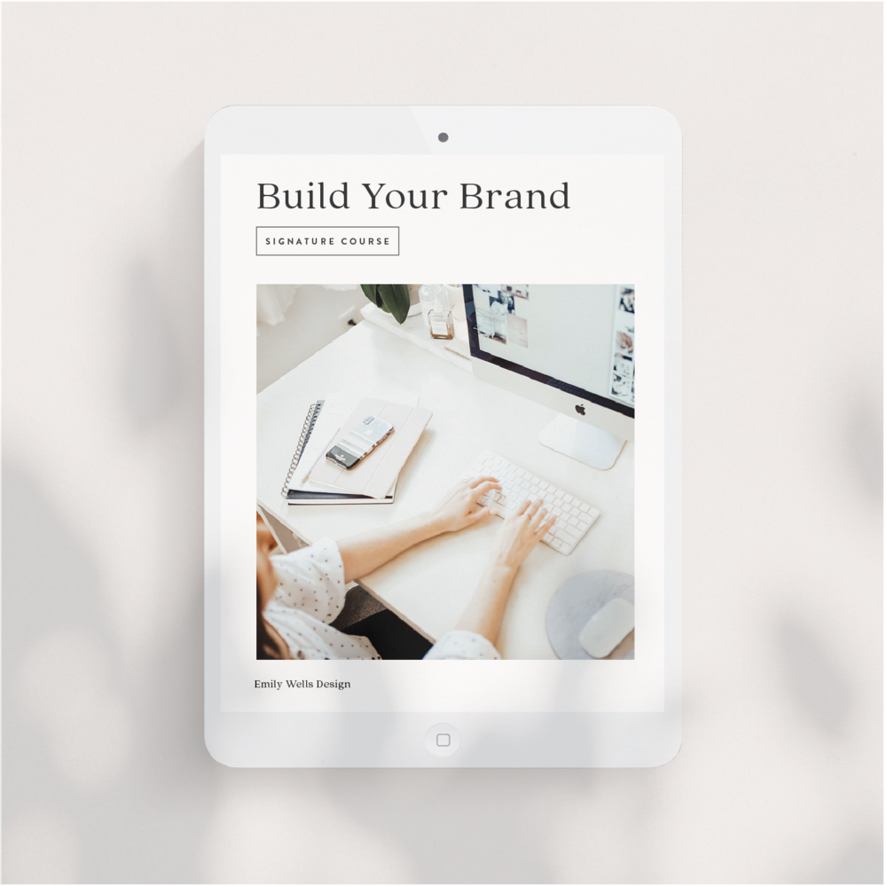 Build Your Brand Signature Course | $150