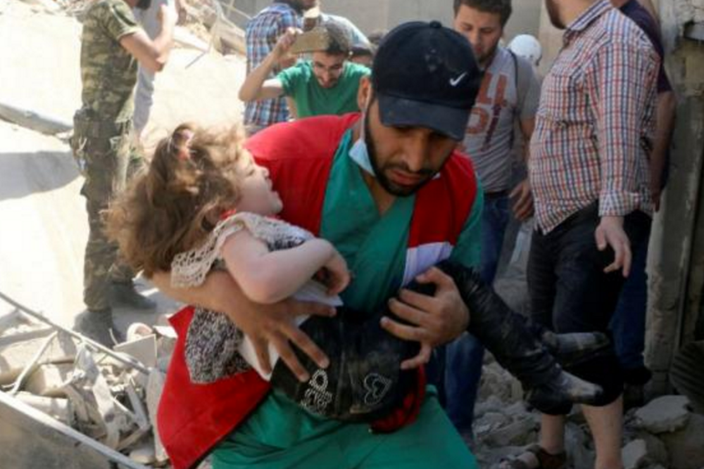 A health worker describes the horror of being targeted by bombs inside Syria