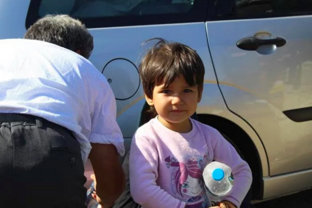 The women and children refugees fleeing war