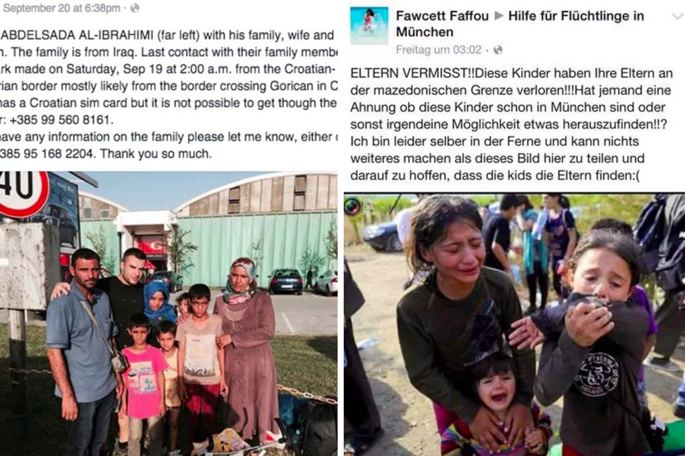 How refugees use Facebook to find missing family members