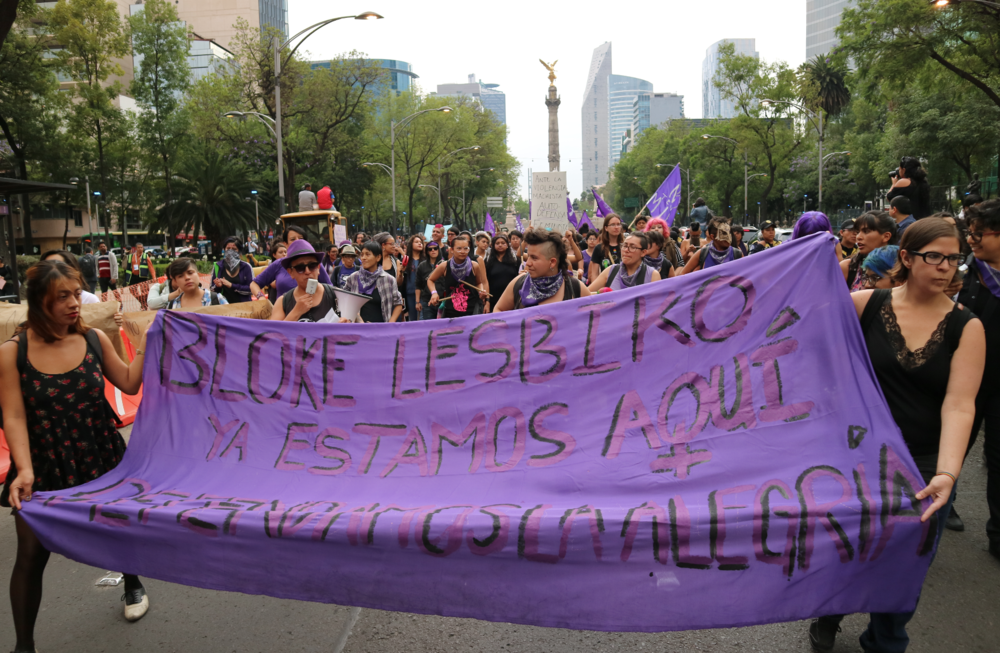 A photo I took while covering a protest about femicide in Mexico City, April 2017.