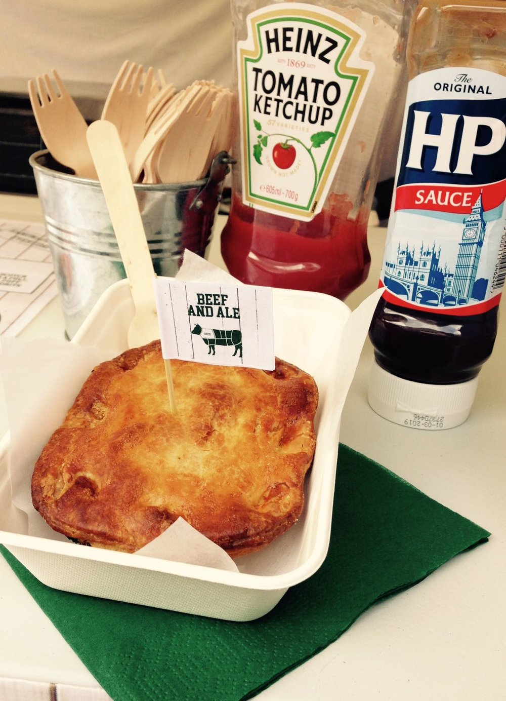 Peatchey Pies  Rob will be serving up his beefy premium pies, packed full of top quality meat.The pies are all handmade back at Peatchey Butchers of Grange Park by brother Alex and his team.