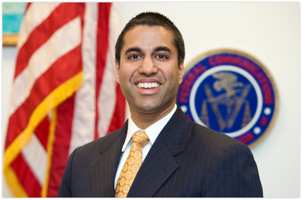 President Trump appointed Ajit Pai as head of the FCC.