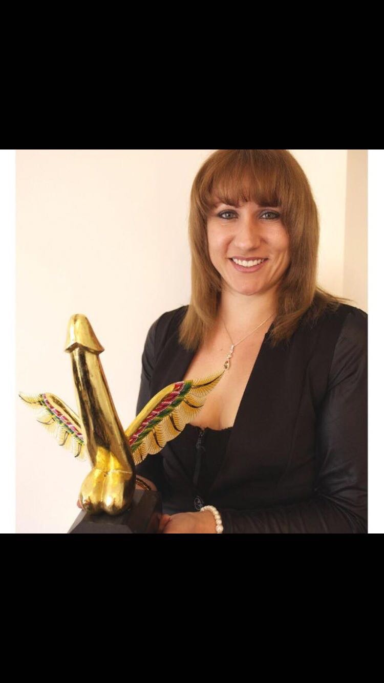 Charlotte with 'Sex Worker of the Year 2013' Sexual Freedom Award