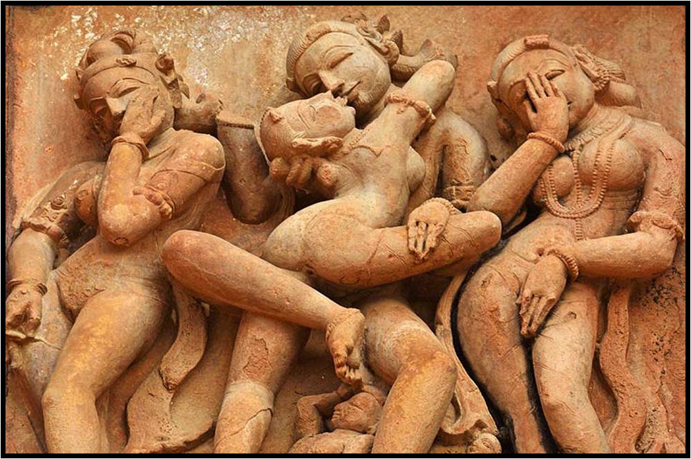 """Khajuraho """"Temple of Love"""" sculptural decor."""