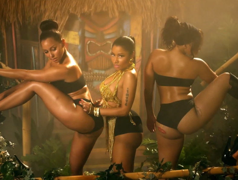 Screenshot from Nicki Minaj's 'Anaconda' music video.