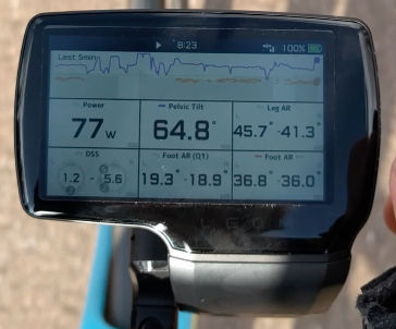 Screenshot of LEOMO Type-R Head Unit mid-ride (I was soft pedaling, I promise!).