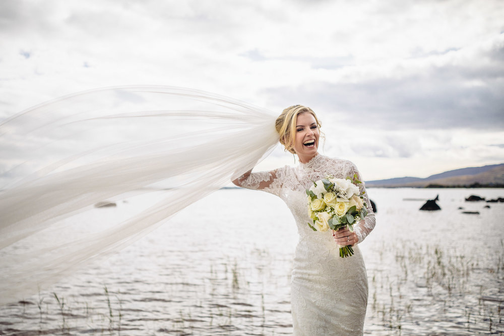 A beautiful bride at a location filled with childhood memories