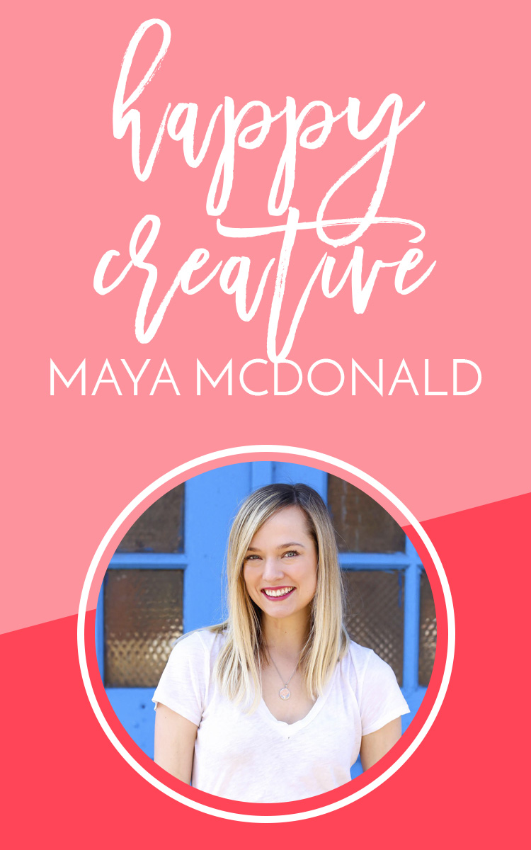 A Happy Creative Interview: A behind-the-scenes chat with Maya McDonald, the creator of Charmingly Styled - she talks social media, life balance, life in Chicago, her blogger community and creativity.