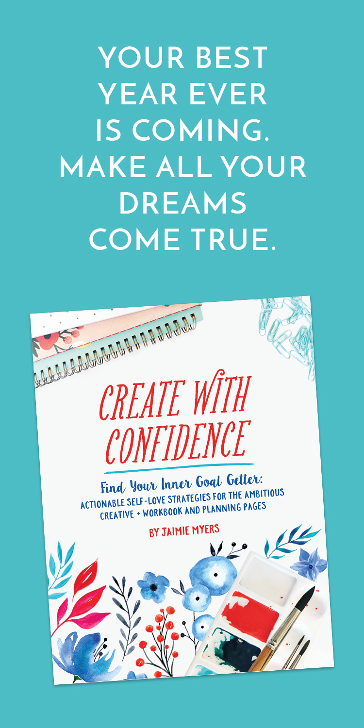 Make 2017 your best year EVER with Create with Confidence. These actionable self-love strategies will help the ambitious creative entrepreneur learn to love, create good habits and set goals that matter! Worksheets and planner pages included!