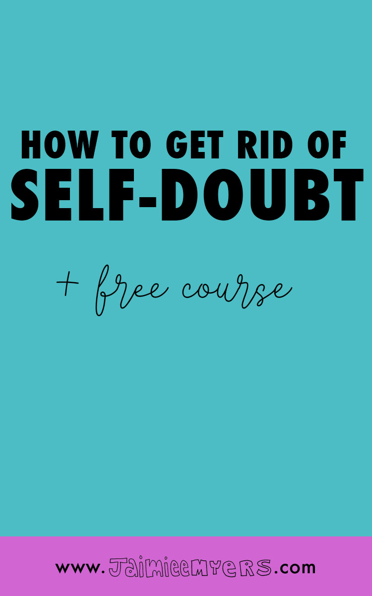 What Self-Doubt Means About You and What You Can Do About it | Self-doubt can be so common among creative entrepreneurs. The inner critic can be a lot to deal with, but once you have the tools to cope, your sense of self-worth and confidence will skyrocket! Click through to read and sign up for the free mini course or repin for later.
