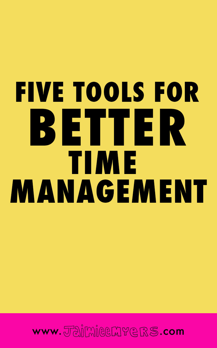 Five Tools for Better Time Management | Want to start getting stuff DONE in your creative business and stop wasting time? Try these five tools - Boardbooster, Convertkit, Google Chrome, Google Calendar and A Color Story for better time management! Click through or repin for later!