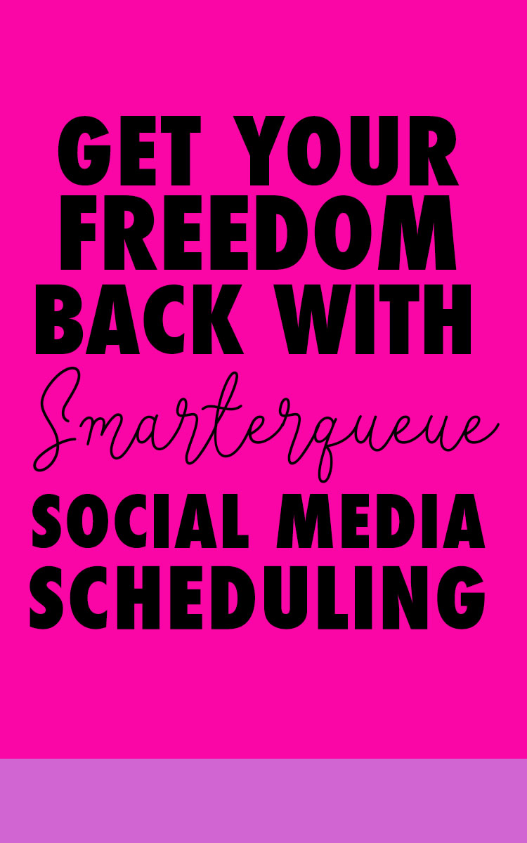 How to Get Your Freedom Back by Automating Social Media with Smarterqueue | Jaimie Myers | Scheduling your social media will save you so much time in your online business. Smarterqueue creates evergreen content that you can post again and again to Twitter, Facebook groups and Facebook pages. Get 30 days free when you click through - or repin for later!