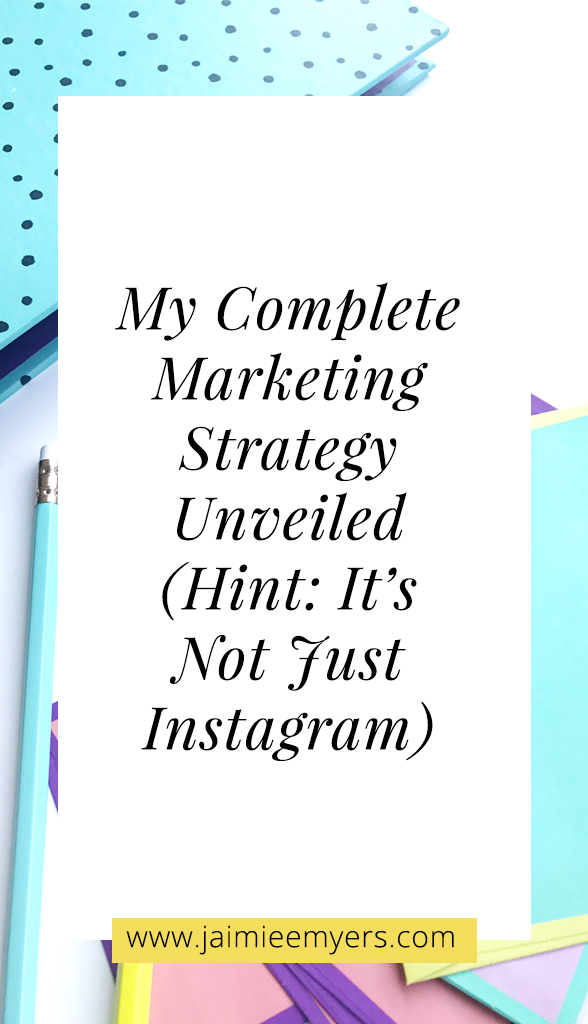 My Complete Marketing Strategy Unveiled (Hint: It's Not Just Instagram) | Creative online business owners need a full business and marketing plan, not just one social media platform. You need to learn how to get traffic, how to share value, and how to grow an online community in order to create a complete marketing strategy. Read now or pin for later!