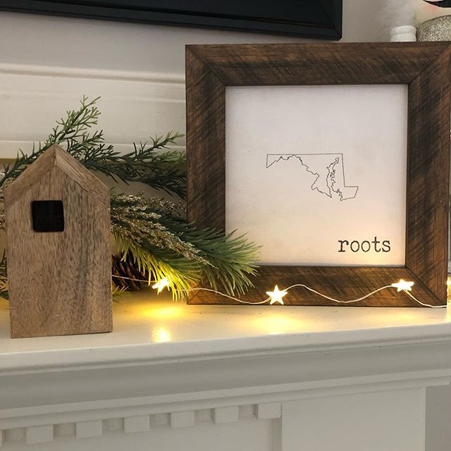 Still looking for that perfect holiday gift?? Our personalized state signs make great meaningful gifts for that special someone.  This one shown  is with a 1 inch frame sized 8x8. $40.  Pick your state and frame color.  Other sizes are available. Visit our website to purchase these adorable signs. www.sissyandcodesigns.com #happyholidays #holiday #holidaygifts #shopsmall #frederick #frederickmd #sissyandco #signs #shoplocal #gift #personalizedgifts #sissyandcodesigns