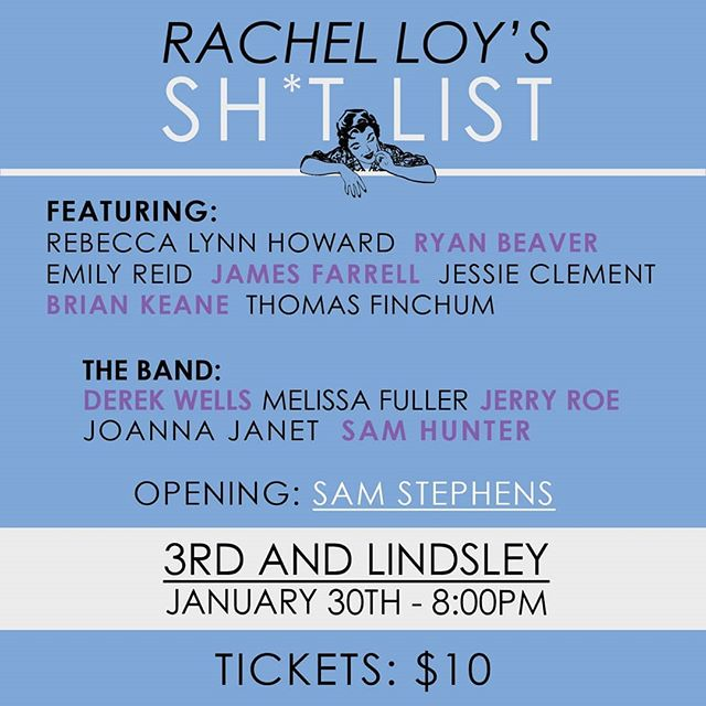 I haven't performed in a looong time so I'm super excited to be getting back on stage with some of the best artists and players in town. Going to do a couple originals on the 30th with @rachel_m_loy's dream team. Hope you can make it!