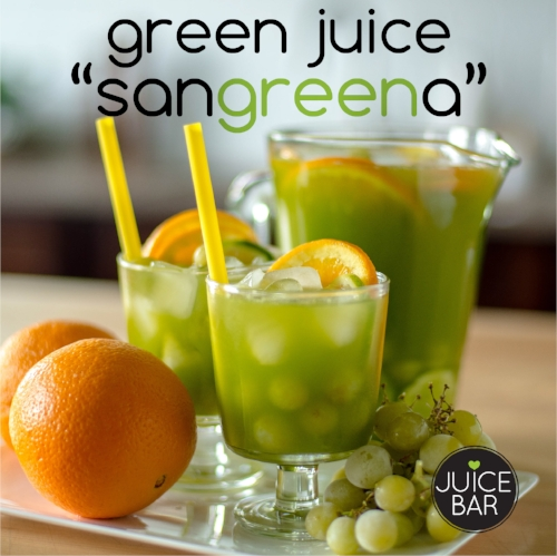 Green Juice Sangria Recipe from I Love Juice Bar