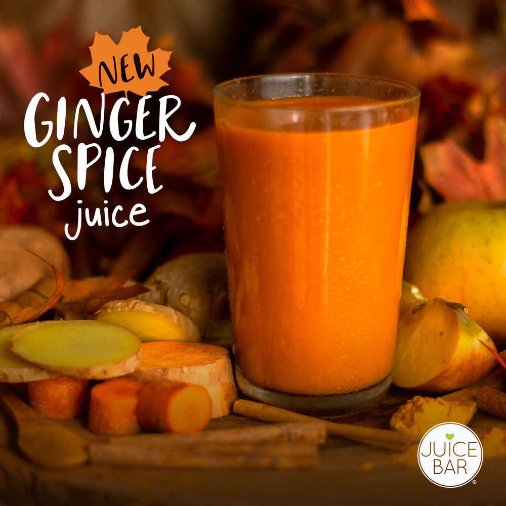 Ginger Spice Juice | I Love Juice Bar