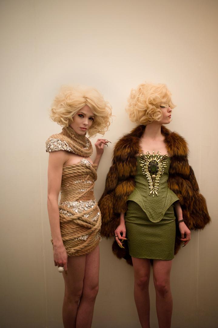 milkstudios: Rope dress at The Blonds Photo by Amanda Hakan.