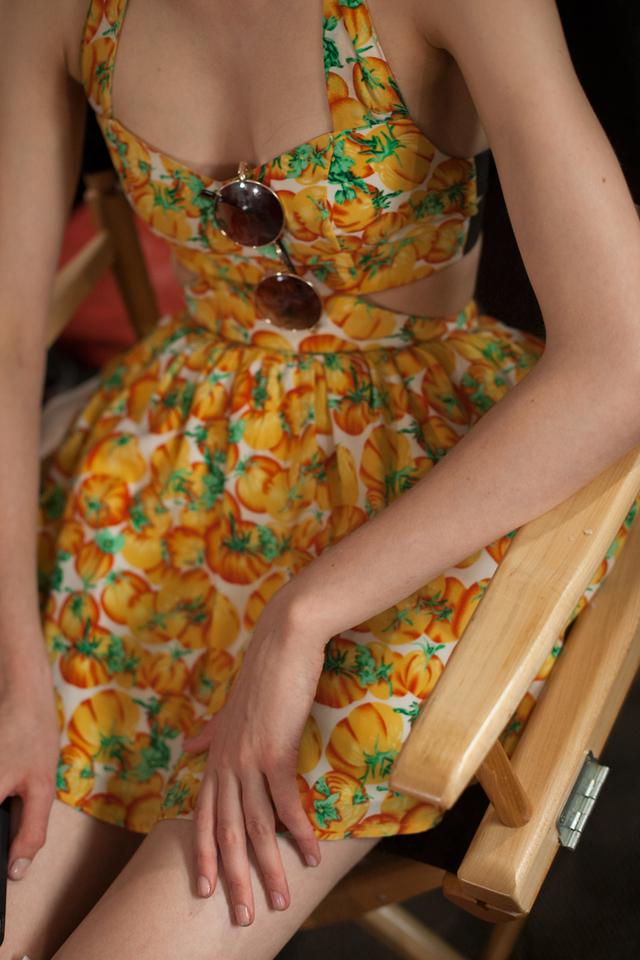 milkstudios: P is for Pumpkins. Sitting pretty backstage at SUNO. (Photo by Amanda Hakan)