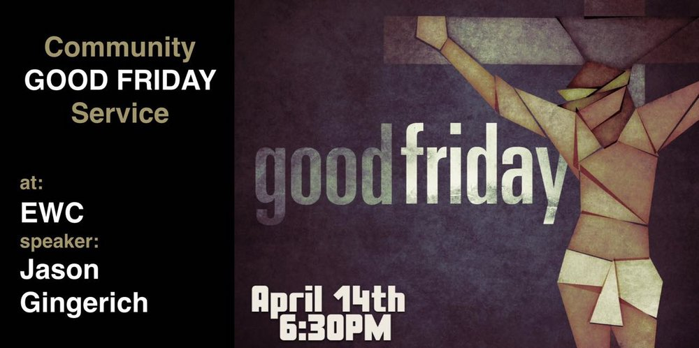 The Topeka area churches are joining together for a Good Friday service at Eden Worship Center. Pastor Jason will be speaking.