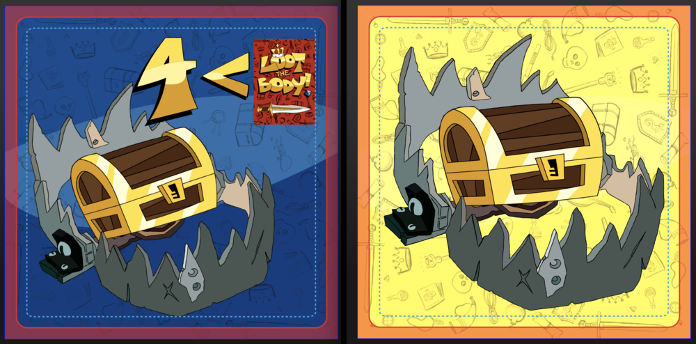 Our Trap and Treasure Cards received the same simplification treatment. The before and after is astounding.