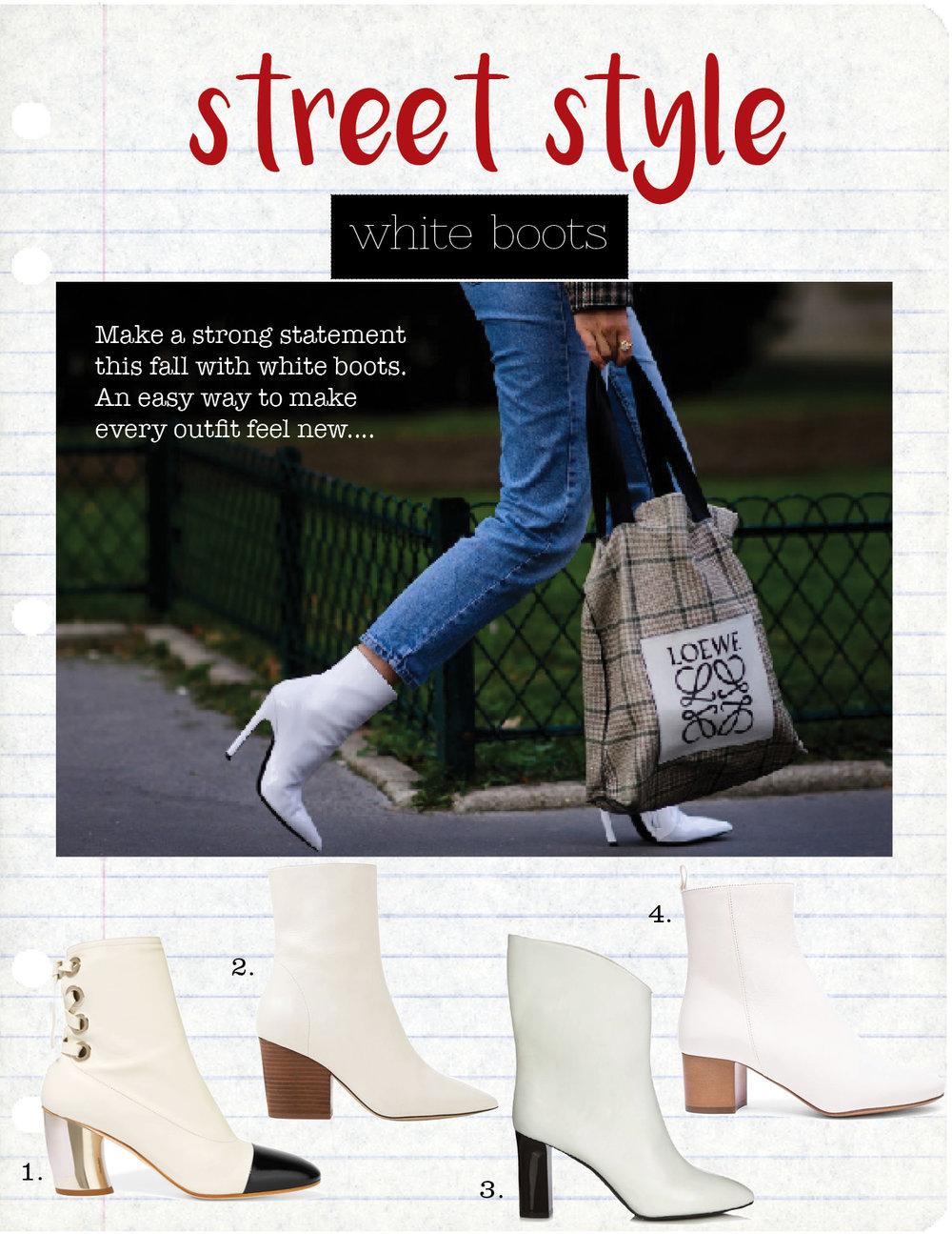 1. Proenza Schouler Ankle Boot, $995,  net-a-porter.com  2. Iro Bootie, $480,  iroparis.com  3. Acne Ankle Boot, $792,  matchesfashion.com  4. Isabel Marant Boot, $585, fwrd.com