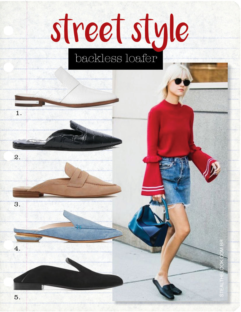 1. keen by freda salvador white embossed croc mule, $350,  shopspring.com  2. attico croc embossed tomaia flats, $535,  fwrd.com  3. dolce vita cybil flats, $99,  nordstrom.com  4. beya suede mules by nicholas kirkwood, $425,  shopspring.com  5. alumnae garconne step-down slipper, $575,  theline.com