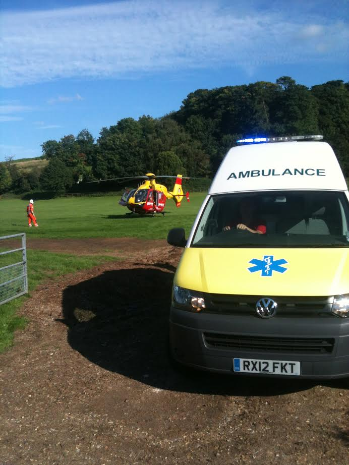 4x4 VW Ambulance Helicopter HEMS Transfer