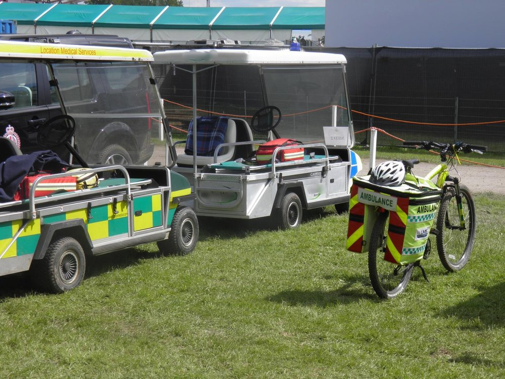 Multiple Golf Buggy Ambulances