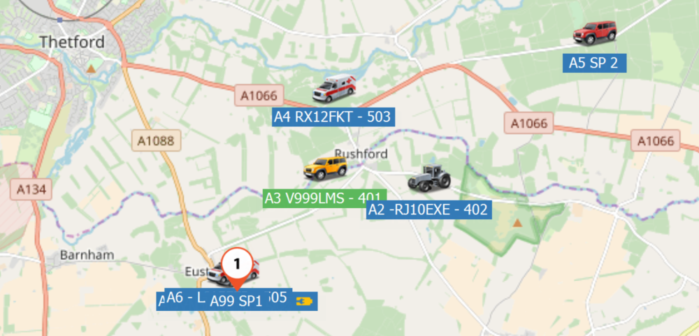 Live Tracking of our 4x4 Ambulances