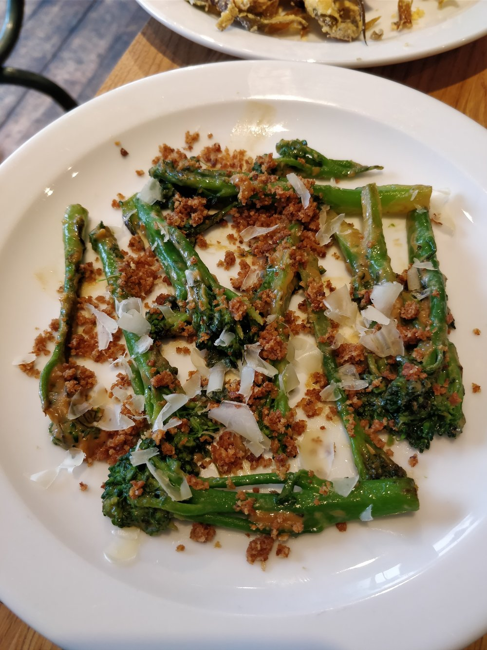 Tenderstem broccoli with miso bangnacuda at Nopi